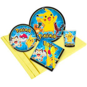 Pokemon Birthday Party Birthday Party Deluxe Tableware Kit Serves 8