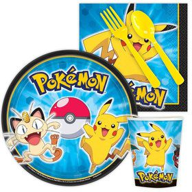 Pokemon Birthday Party Standard Tableware Kit Serves 8