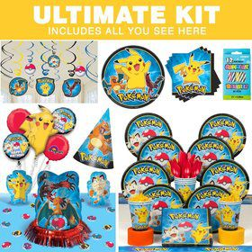Pokemon Birthday Party Ultimate Tableware Kit Serves 8