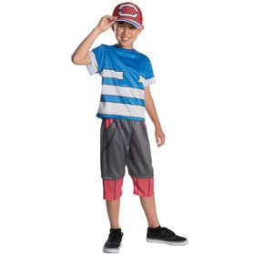 Pokemon Deluxe Ash Kids Costume