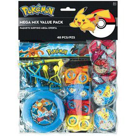 Pokemon Mega Mix Value Pack Favors (For 8 Guests)