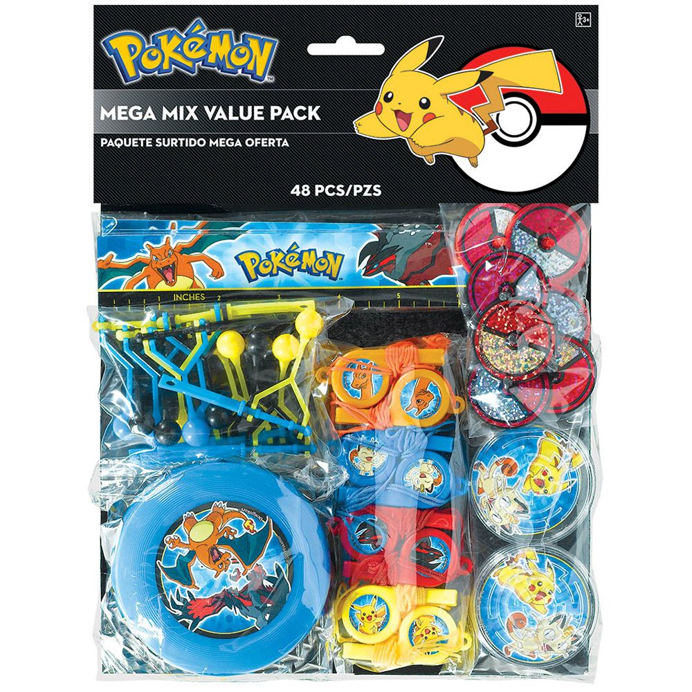 Pokemon Mega Mix Value Pack Favors (For 6 Guests) - Party Supplies BB394443