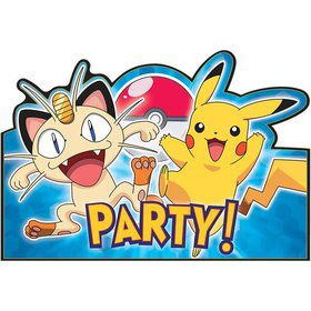 Pokemon Postcard Invitations (8 Pack)