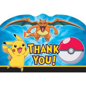 Pokemon Postcard Thank You Note (8 Pack)