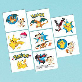 Pokemon Tattoo Favors (16 Pack)