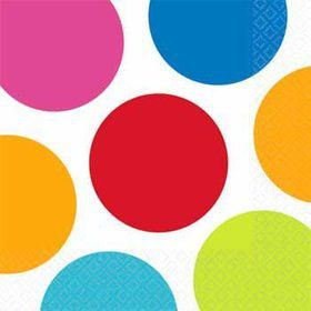 Polka Dot Party Beverage Napkins (16-pack)