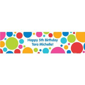 Polka Dot Party Personalized Banner (each)