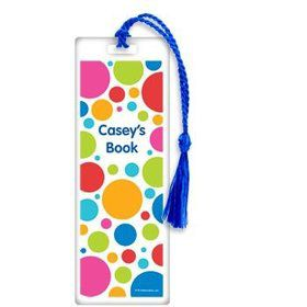 Polka Dot Party Personalized Bookmark (each)
