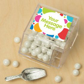 Polka Dot Party Personalized Candy Bin with Candy Scoop (10 Count)