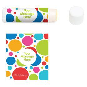 Polka Dot Party Personalized Lip Balm (12 Pack)