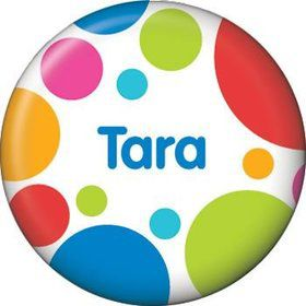 Polka Dot Party Personalized Mini Button (each)