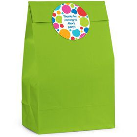 Polka Dot Personalized Favor Bag (Set Of 12)