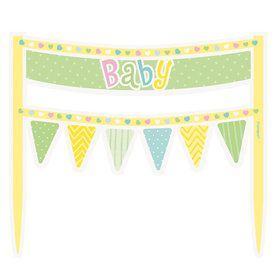 Polka Dots Baby Shower Cake Banner (Each)