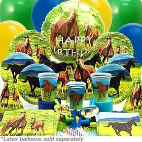 Pony Birthday Party Ultimate Tableware Birthday Kit Serves 8