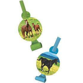 Pony Party Blowers (8-pack)