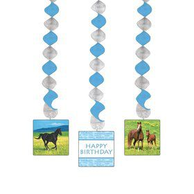 Pony Party Dangling Cutout (3-pack)