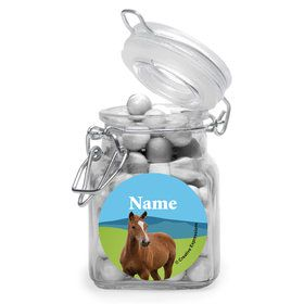 Pony Party Personalized Glass Apothecary Jars (12 Count)