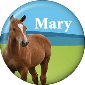 Pony Party Personalized Mini Button (each)