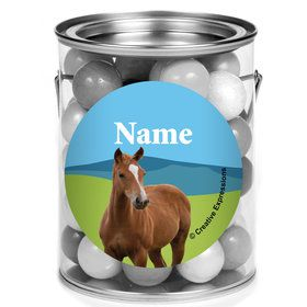 Pony Party Personalized Mini Paint Cans (12 Count)