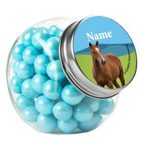 Pony Party Personalized Plain Glass Jars (12 Count)