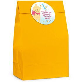 Pooh Personalized Favor Bag (Set Of 12)