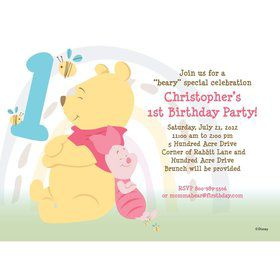 Pooh Personalized Invitation (Each)