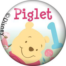 Pooh Personalized Mini Button (Each)