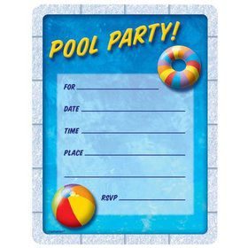 Pool Party Invitations (50 Pack)