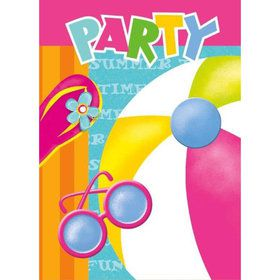 Pool Party Invitations (8 Pack)