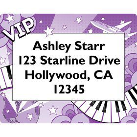 Pop Star Personalized Address Labels (sheet of 15)