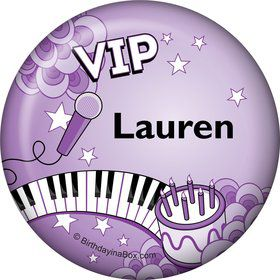 Pop Star Personalized Button (each)