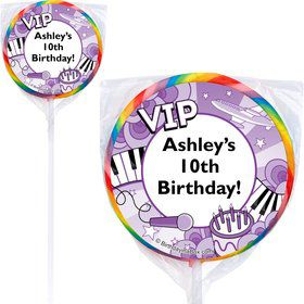 Pop Star Personalized Lollipop (PACK OF 12)