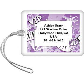 Pop Star Personalized Luggage Tag (each)