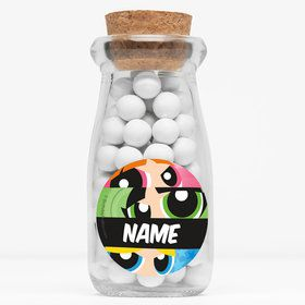 "Powderpuff Girls Personalized 4"" Glass Milk Jars (Set of 12)"