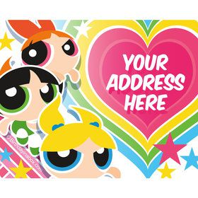 Powderpuff Girls Personalized Address Labels (Sheet of 15)