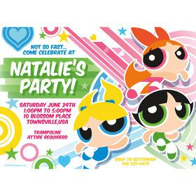 Powderpuff Girls Personalized Invitation (Each)