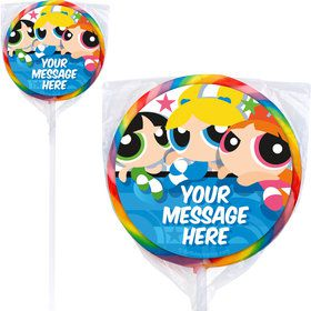 Powderpuff Girls Personalized Lollipops (12 Pack)