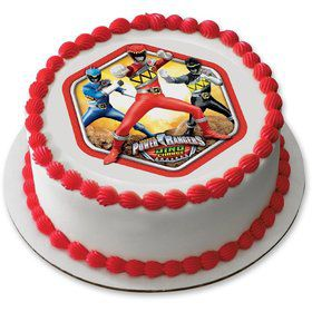 "Power Rangers 7.5"" Round Edible Cake Topper (Each)"