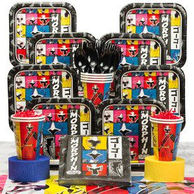 Power Rangers Birthday Party Deluxe Tableware Kit Serves 8