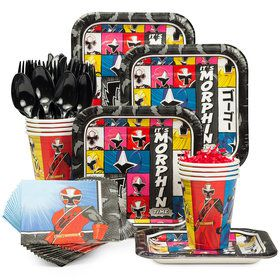 Power Rangers Birthday Party Standard Tableware Kit Serves 8