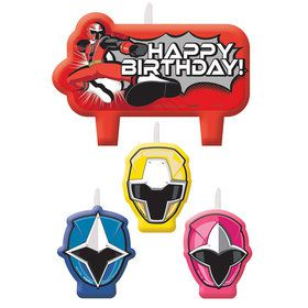 Power Rangers Dino Charge Candle Set (4 Pack)