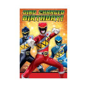 Power Rangers Dino Charge Invitations (8 Pack)
