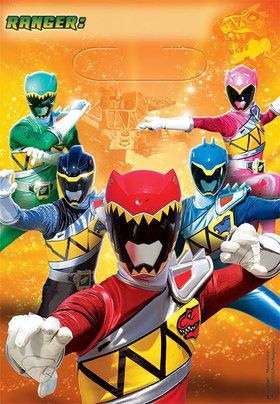 Power Rangers Dino Charge Loot Favor Bags (8 Pack)