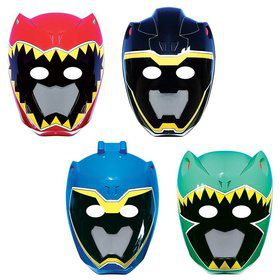 Power Rangers Dino Charge Paper Masks (8 Pack)