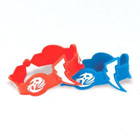 Power Rangers Rubber Bracelet Favors (6 Count)