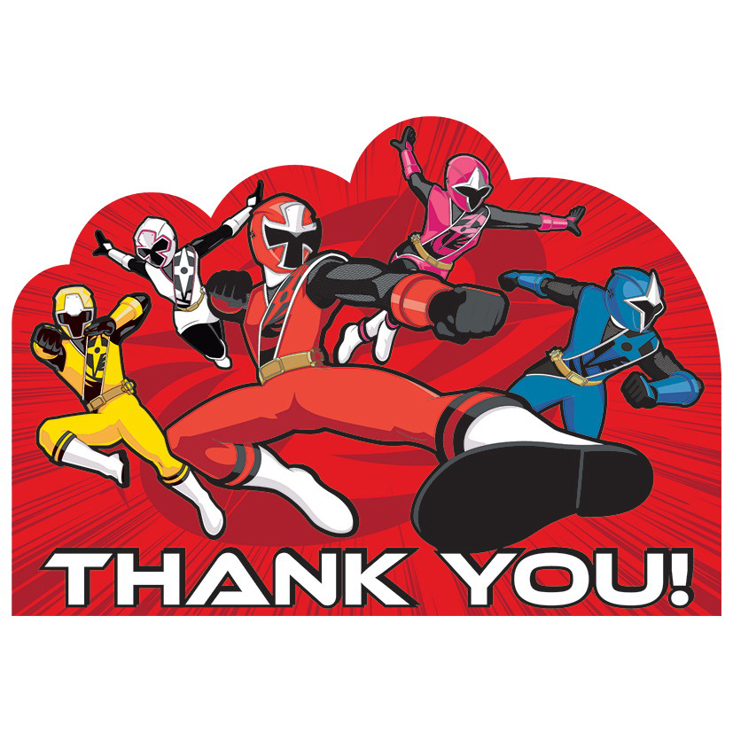 Power Rangers Dino Charge Thank You Notes (8 Pack) - Party Supplies BB481429