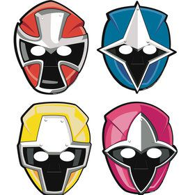 Power Rangers Masks (8 Count)