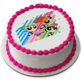"Powerpuff Girls 7.5"" Round Edible Cake Topper (Each)"