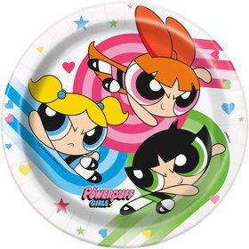 "Powerpuff Girls 7"" Cake Plates (8 Count)"