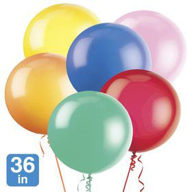 "Premium Assorted Latex 36"" Balloons (6 Pack)"